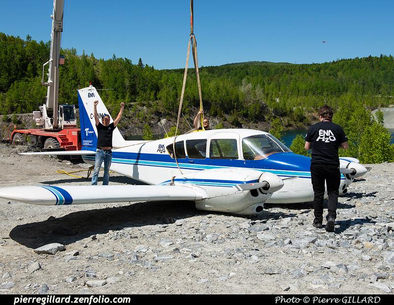 Pierre GILLARD: 2021-05-29 et 30 - Mise à l'eau du Piper C-GNMA à la carrière Flintkote &emdash; 2021-429477