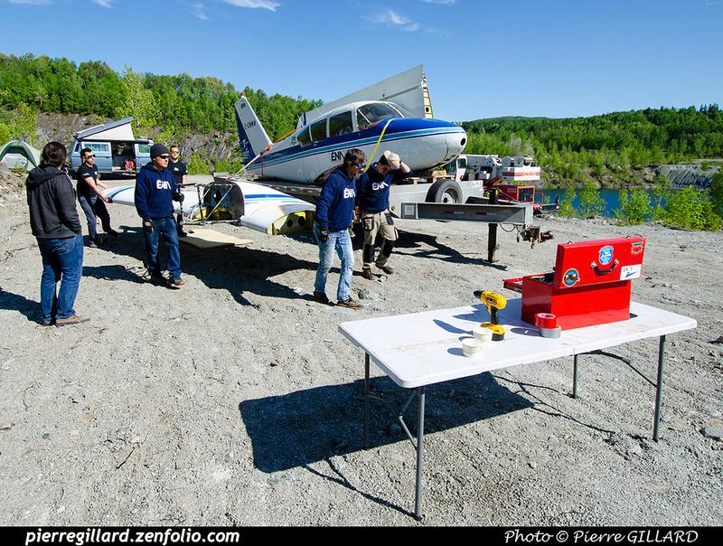 Pierre GILLARD: 2021-05-29 et 30 - Mise à l'eau du Piper C-GNMA à la carrière Flintkote &emdash; 2021-714022