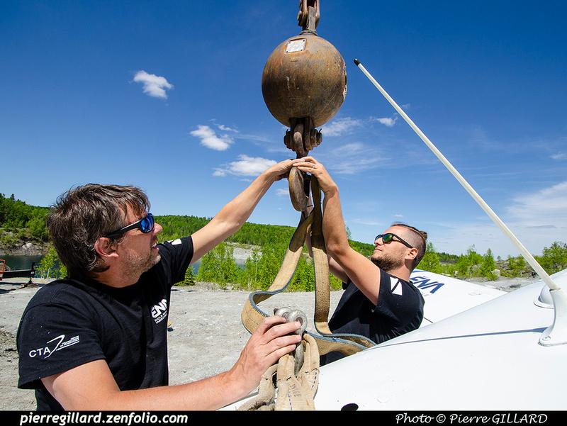 Pierre GILLARD: 2021-05-29 et 30 - Mise à l'eau du Piper C-GNMA à la carrière Flintkote &emdash; 2021-714131