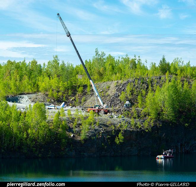 Pierre GILLARD: 2021-05-29 et 30 - Mise à l'eau du Piper C-GNMA à la carrière Flintkote &emdash; 2021-626365