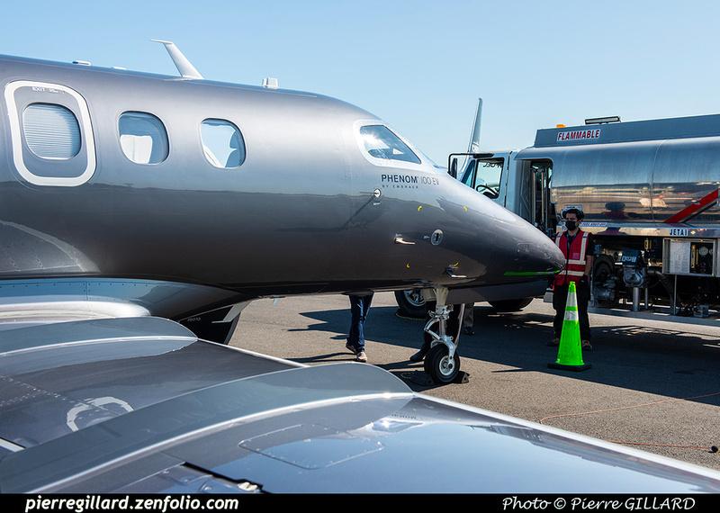 Pierre GILLARD: 2021-07-23 - Un Embraer Phenom 100EV au Terminal Lux &emdash; 2021-430061