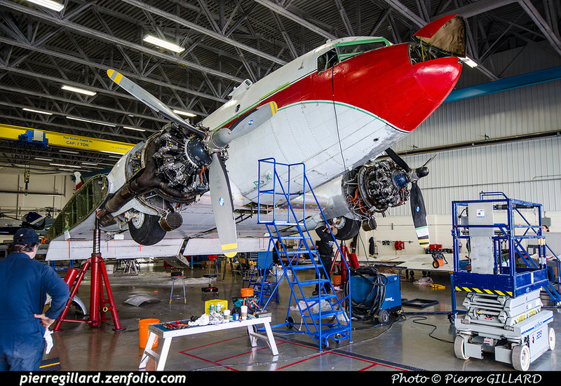 Pierre GILLARD: 2019-04-06 au 2019-06-06 (?) - Plane Savers - Restauration du DC-3 C-FDTD &emdash; 2019-711879