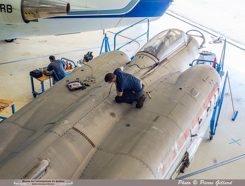 Pierre GILLARD: 2019-08-02 au 08-05 - Évaluation du fuselage du CF-100 à l'ÉNA &emdash; 2019-623150