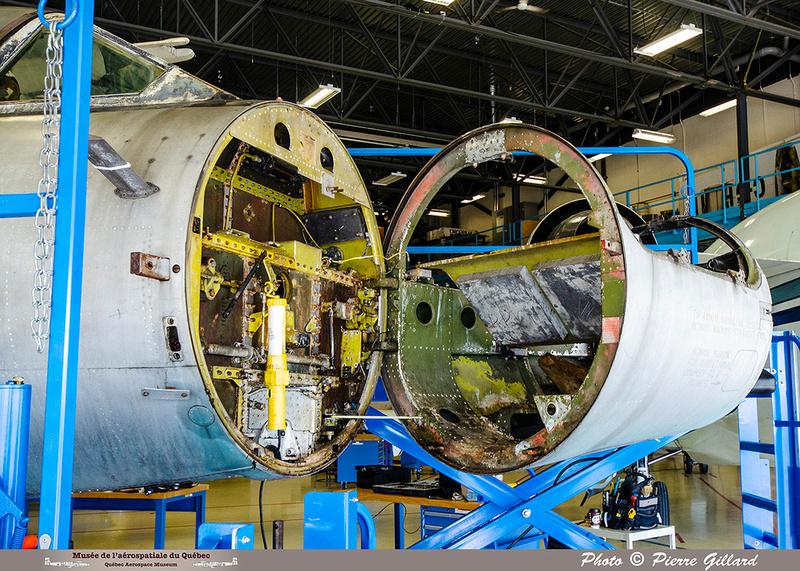 Pierre GILLARD: 2019-08-02 au 08-05 - Évaluation du fuselage du CF-100 à l'ÉNA &emdash; 2019-712932