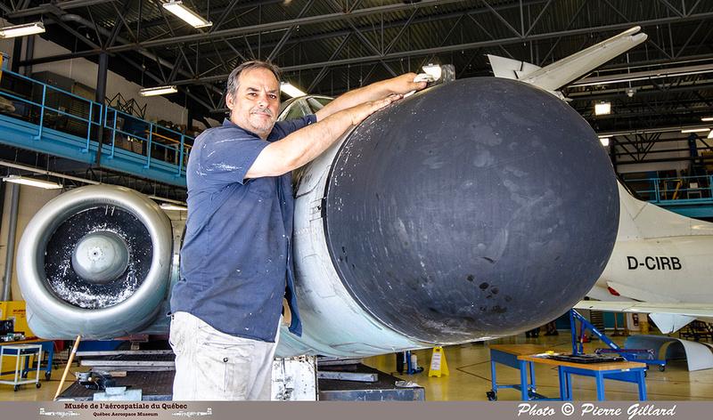 Pierre GILLARD: 2019-08-02 au 08-05 - Évaluation du fuselage du CF-100 à l'ÉNA &emdash; 2019-712958