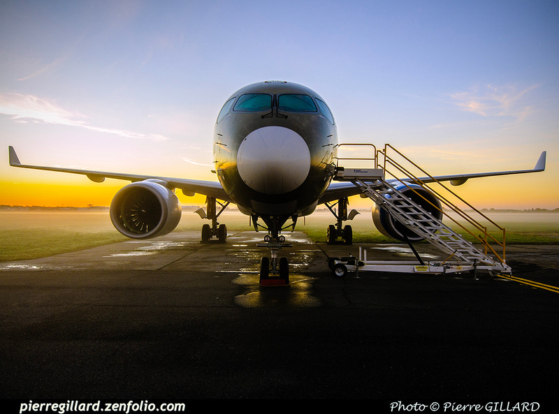 Pierre GILLARD: Bombardier CSeries CS100 C-GWXJ &emdash; 2019-713321