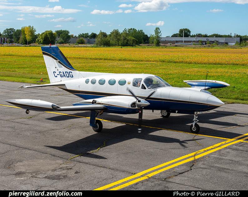 Pierre GILLARD: 2020-09-17 - Arrivée du Cessna 421B C-GADG à l'ÉNA &emdash; 2020-428121