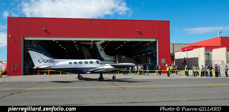 Pierre GILLARD: 2020-09-17 - Arrivée du Cessna 421B C-GADG à l'ÉNA &emdash; 2020-428142