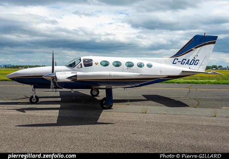 Pierre GILLARD: 2020-09-17 - Arrivée du Cessna 421B C-GADG à l'ÉNA &emdash; 2020-428153