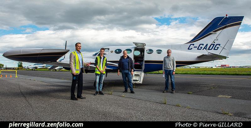 Pierre GILLARD: 2020-09-17 - Arrivée du Cessna 421B C-GADG à l'ÉNA &emdash; 2020-428183