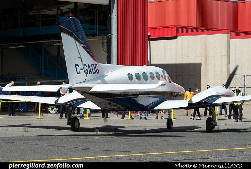 Pierre GILLARD: 2020-09-17 - Arrivée du Cessna 421B C-GADG à l'ÉNA &emdash; 2020-625598