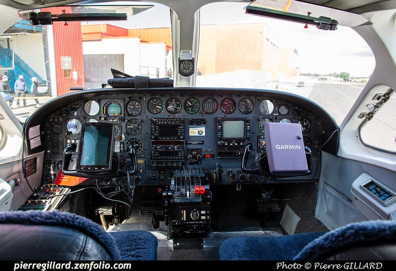 Pierre GILLARD: 2020-09-17 - Arrivée du Cessna 421B C-GADG à l'ÉNA &emdash; 2020-428190
