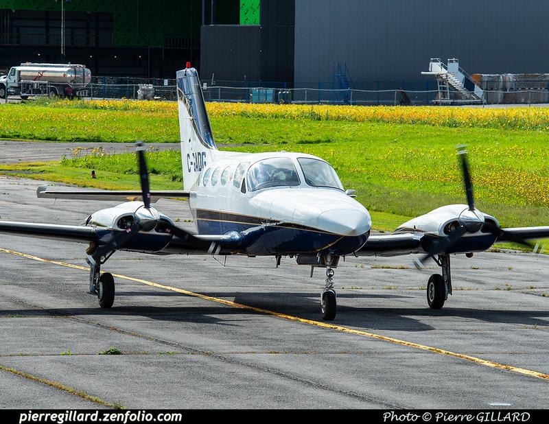 Pierre GILLARD: 2020-09-17 - Arrivée du Cessna 421B C-GADG à l'ÉNA &emdash; 2020-625597