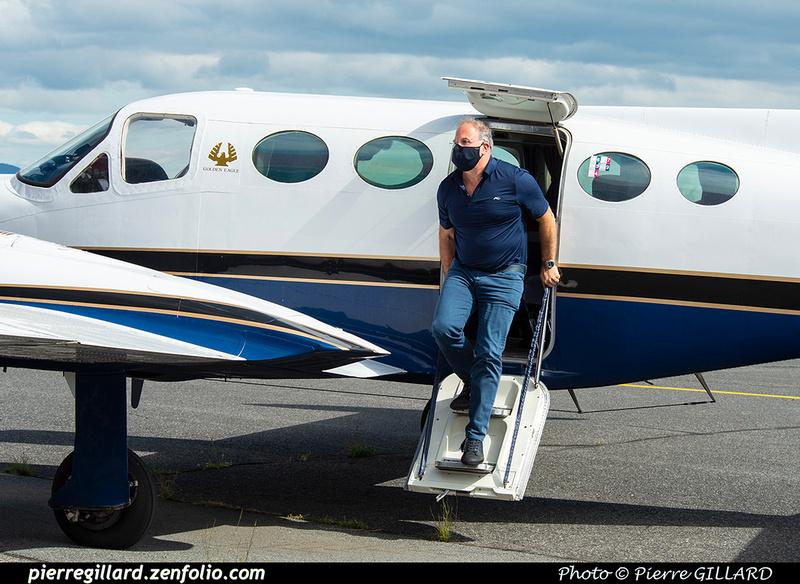 Pierre GILLARD: 2020-09-17 - Arrivée du Cessna 421B C-GADG à l'ÉNA &emdash; 2020-625609