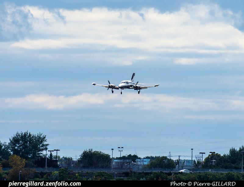 Pierre GILLARD: 2020-09-17 - Arrivée du Cessna 421B C-GADG à l'ÉNA &emdash; 2020-804166