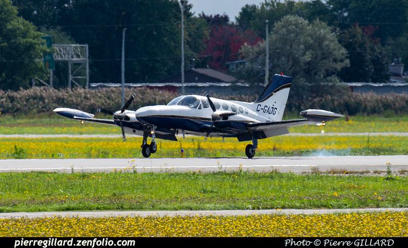 Pierre GILLARD: 2020-09-17 - Arrivée du Cessna 421B C-GADG à l'ÉNA &emdash; 2020-804181