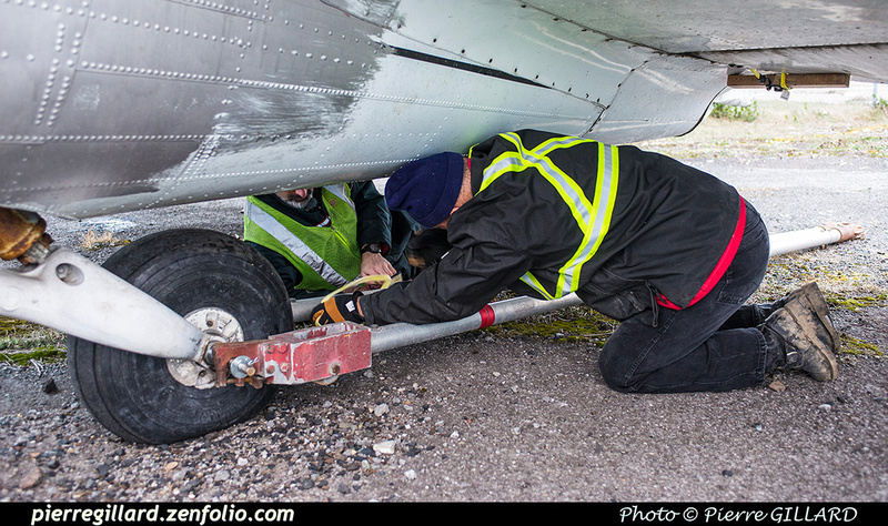 Pierre GILLARD: 2017-11-20 - Déplacement du DC-3 C-FDTD au FBO H-18. &emdash; 2017-615939