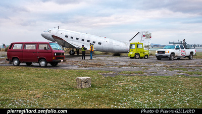 Pierre GILLARD: 2017-11-20 - Déplacement du DC-3 C-FDTD au FBO H-18. &emdash; 2017-615946