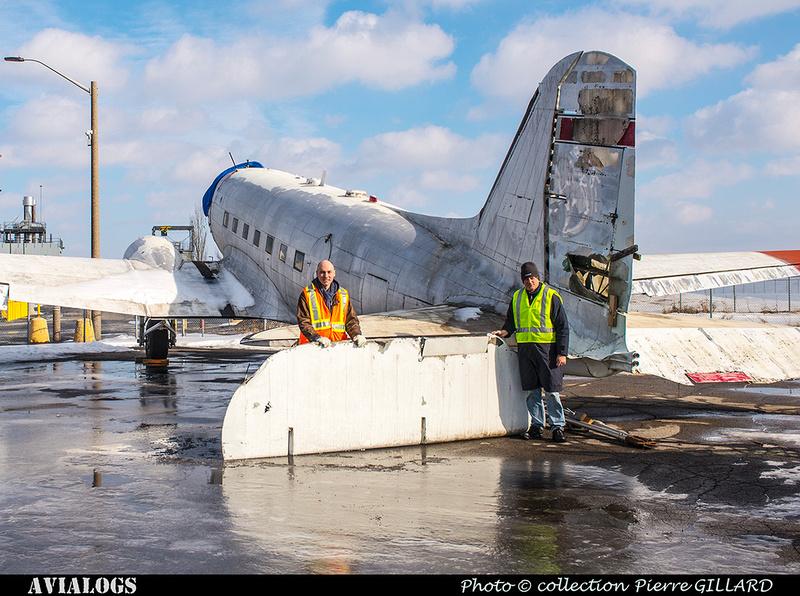 Pierre GILLARD: 2018-01-27 et 28 - Démontage des gouvernes de profondeur du DC-3 C-FDTD &emdash; 2018-616395