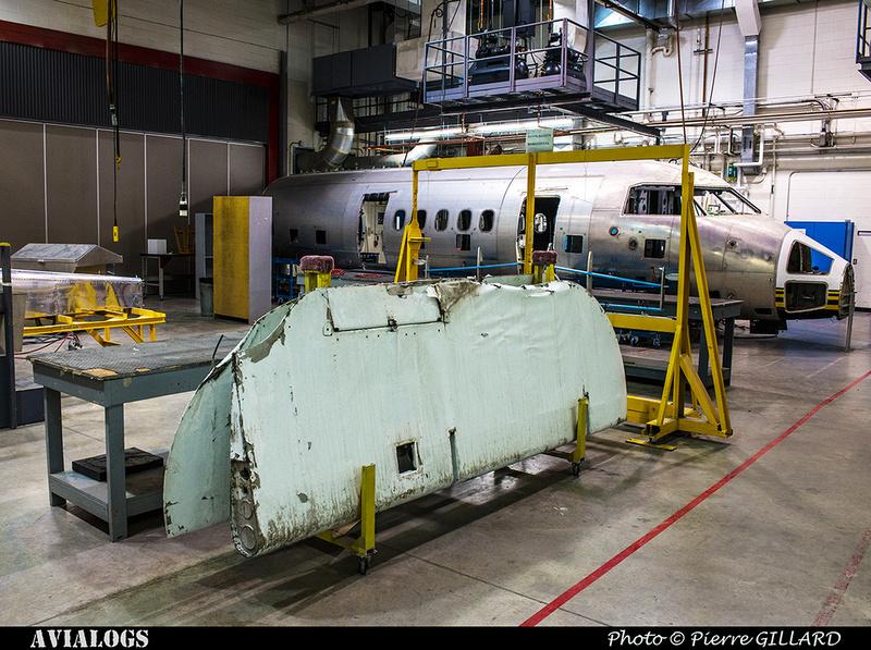 Pierre GILLARD: 2018-01-27 et 28 - Démontage des gouvernes de profondeur du DC-3 C-FDTD &emdash; 2018-616409