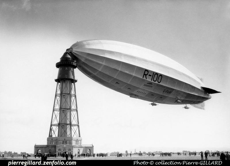 Pierre GILLARD: 1930-08 - Dirigeable R-100 à Saint-Hubert &emdash; 010407