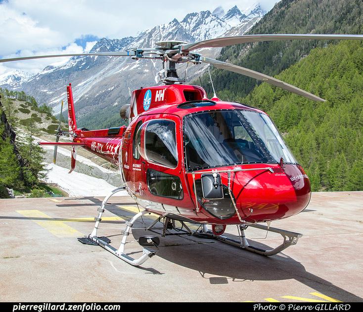 Pierre GILLARD: Air Zermatt - Zermatt Heliport &emdash; 2018-524085