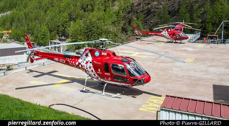Pierre GILLARD: Air Zermatt - Zermatt Heliport &emdash; 2018-524090