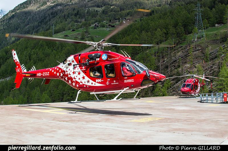 Pierre GILLARD: Air Zermatt - Zermatt Heliport &emdash; 2018-524101