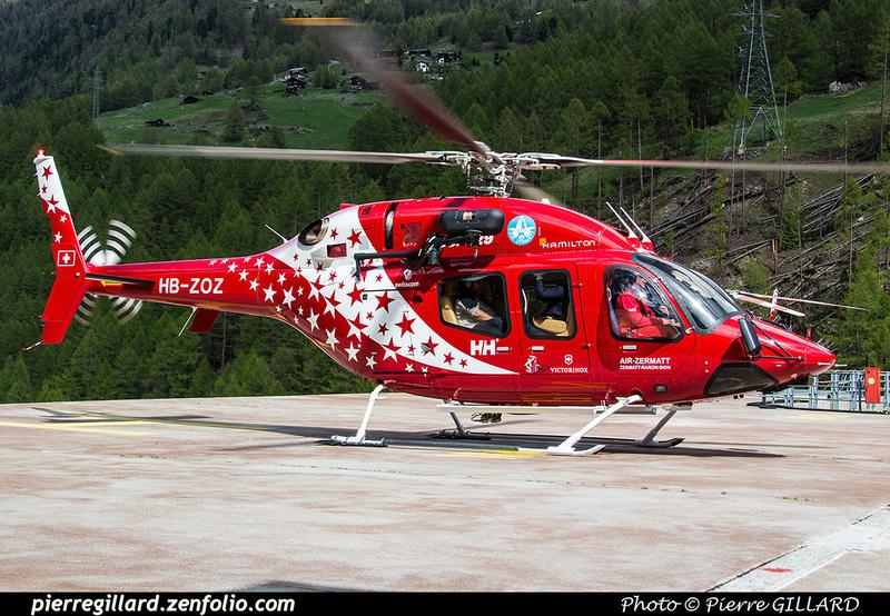 Pierre GILLARD: Air Zermatt - Zermatt Heliport &emdash; 2018-524104