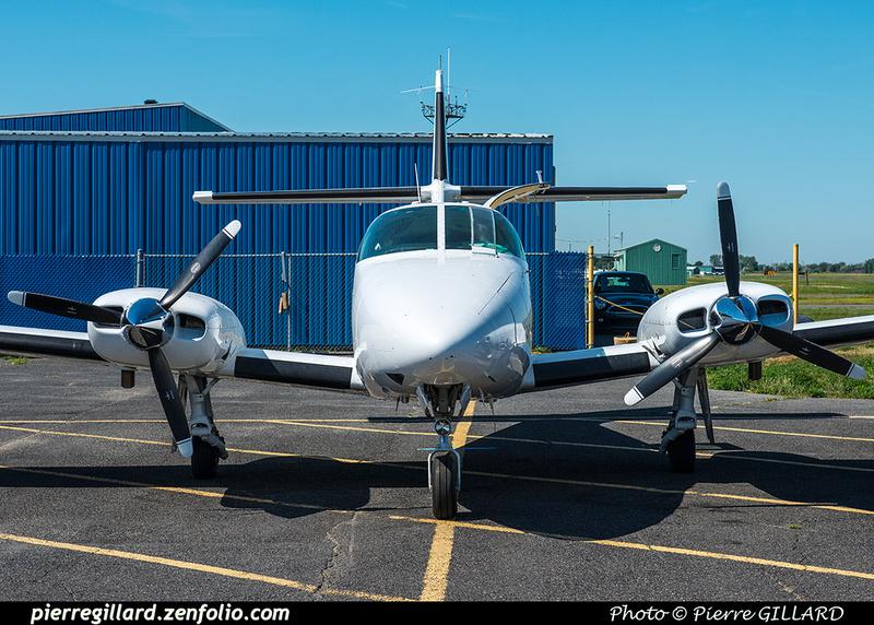 Pierre GILLARD: 2018-07-20 - Escale à Saint-Hubert du Cessna T303 Crusader D-IBIS sur la route d'Oshkosh &emdash; 2018-617749