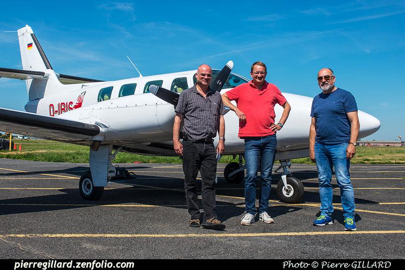 Pierre GILLARD: 2018-07-20 - Escale à Saint-Hubert du Cessna T303 Crusader D-IBIS sur la route d'Oshkosh &emdash; 2018-617739