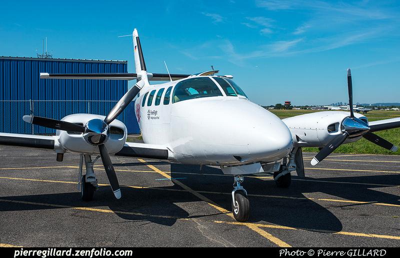 Pierre GILLARD: 2018-07-20 - Escale à Saint-Hubert du Cessna T303 Crusader D-IBIS sur la route d'Oshkosh &emdash; 2018-617751