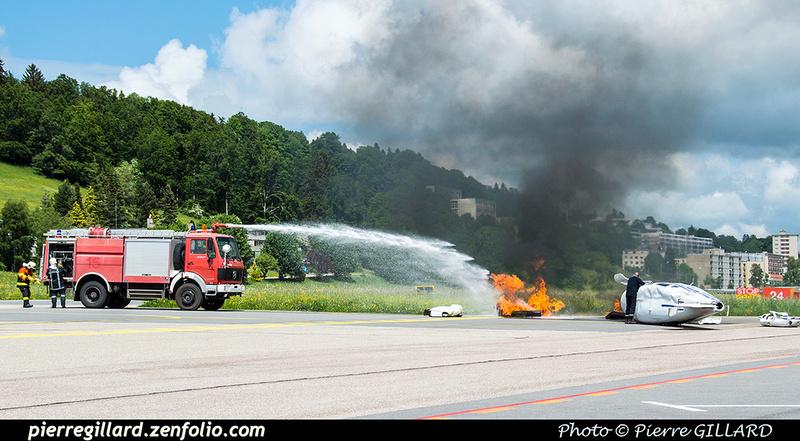 Pierre GILLARD: 2018-05-29 - Simulation d'accident à la Chaux-de-Fonds (Les Éplatures) &emdash; 2018-524805