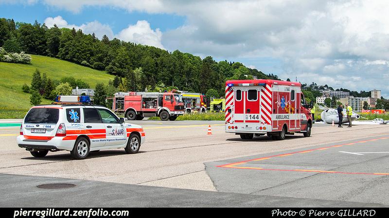 Pierre GILLARD: 2018-05-29 - Simulation d'accident à la Chaux-de-Fonds (Les Éplatures) &emdash; 2018-524812