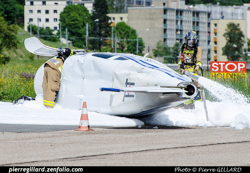Pierre GILLARD: 2018-05-29 - Simulation d'accident à la Chaux-de-Fonds (Les Éplatures) &emdash; 2018-708382