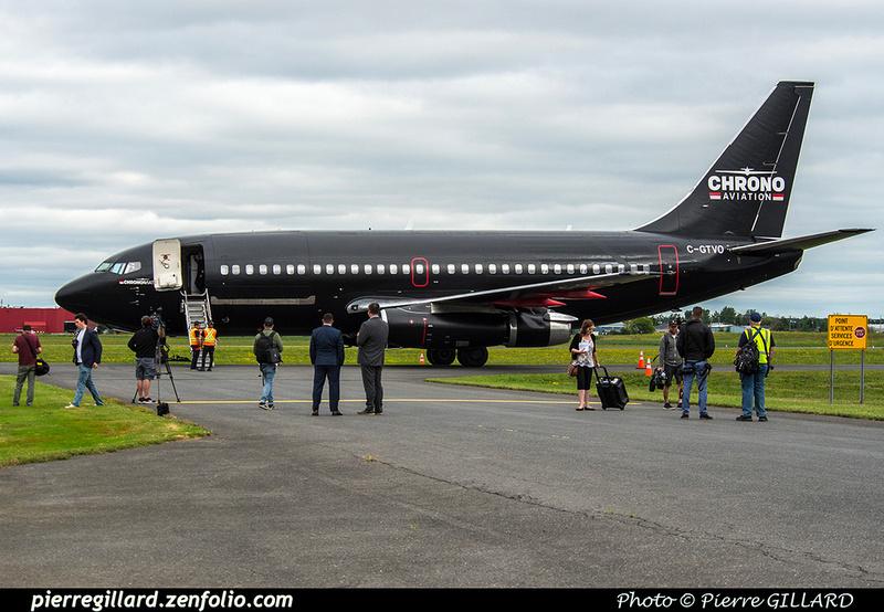 Pierre GILLARD: 2018-08-30 - Inauguration de la piste 06L/24R rénovée de Saint-Hubert et présentation du Boeing 737 de Chrono Aviation &emdash; 2018-423201