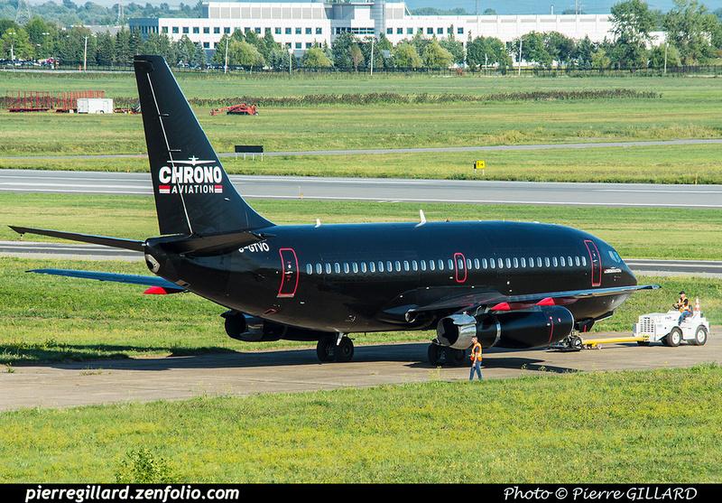 Pierre GILLARD: 2018-08-30 - Inauguration de la piste 06L/24R rénovée de Saint-Hubert et présentation du Boeing 737 de Chrono Aviation &emdash; 2018-423332