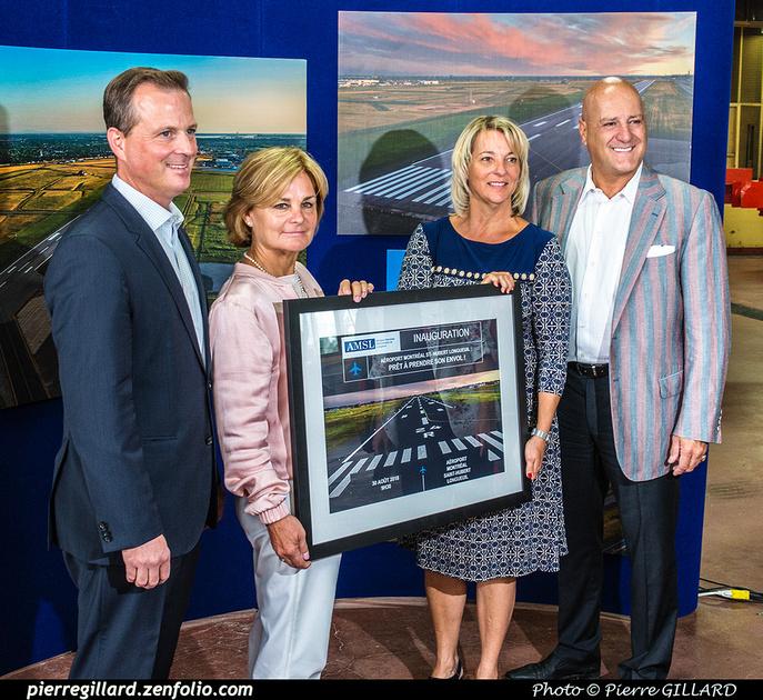 Pierre GILLARD: 2018-08-30 - Inauguration de la piste 06L/24R rénovée de Saint-Hubert et présentation du Boeing 737 de Chrono Aviation &emdash; 2018-619009