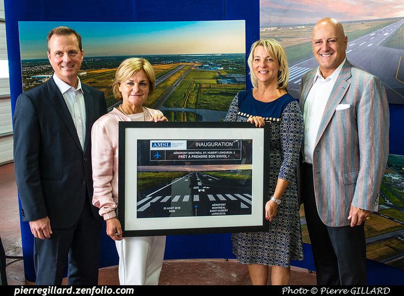Pierre GILLARD: 2018-08-30 - Inauguration de la piste 06L/24R rénovée de Saint-Hubert et présentation du Boeing 737 de Chrono Aviation &emdash; 2018-619015