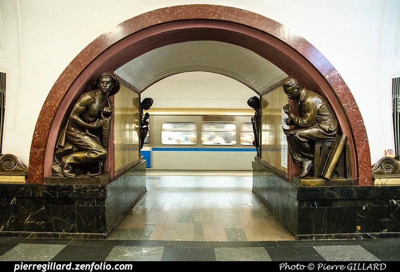 Pierre GILLARD: Moscou (Москва) : Métro - Моско́вский метрополите́н &emdash; 2018-525584