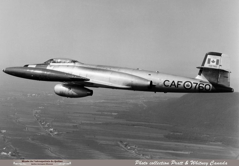 Pierre GILLARD: Avro CF-100 #100760 as Pratt & Whitney Canada JT15 Flying Test Bed &emdash; 010414