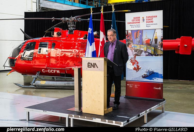 Pierre GILLARD: 2018-11-14 - Cérémonie officielle de don du Bo-105 de la Garde côtière à l'ÉNA &emdash; 2018-620142