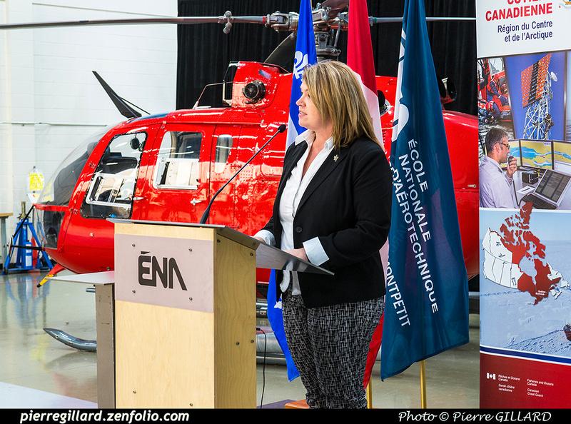 Pierre GILLARD: 2018-11-14 - Cérémonie officielle de don du Bo-105 de la Garde côtière à l'ÉNA &emdash; 2018-620146