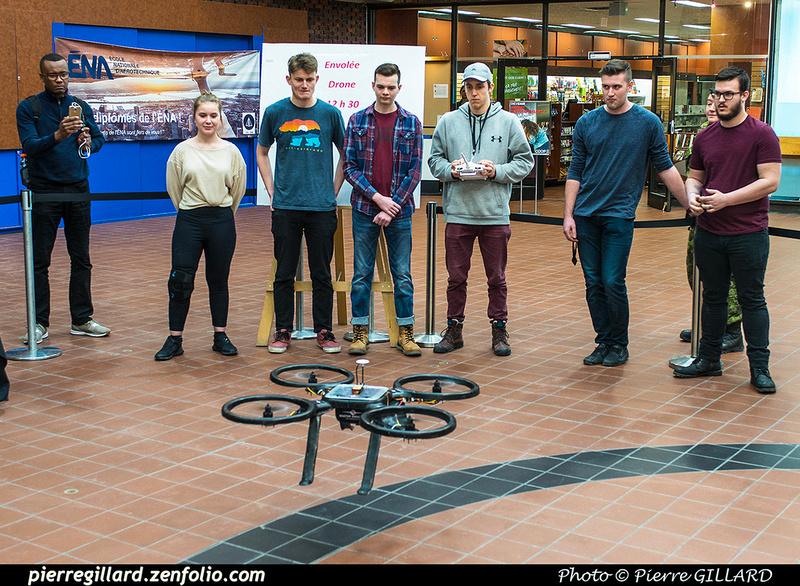 Pierre GILLARD: 2019-03-06 - Premier d'un drone développé par des étudiants de l'ÉNA &emdash; 2019-620913
