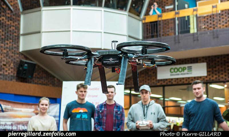 Pierre GILLARD: 2019-03-06 - Premier d'un drone développé par des étudiants de l'ÉNA &emdash; 2019-620932
