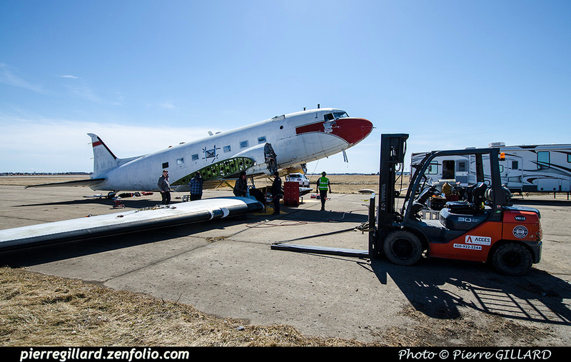 Pierre GILLARD: 2019-04-06 au 2019-06-06 (?) - Plane Savers - Restauration du DC-3 C-FDTD &emdash; 2019-711750