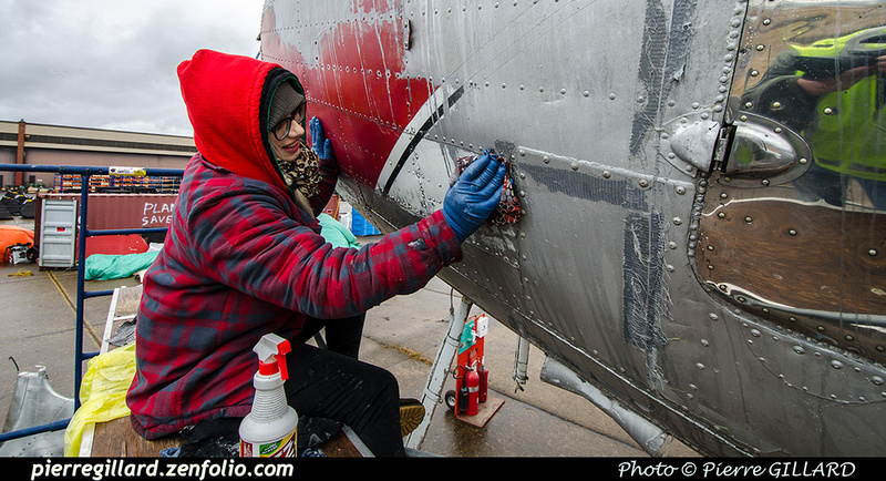 Pierre GILLARD: 2019-04-06 au 2019-06-06 (?) - Plane Savers - Restauration du DC-3 C-FDTD &emdash; 2019-711787