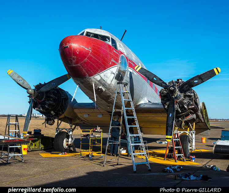 Pierre GILLARD: 2019-04-06 au 2019-06-06 (?) - Plane Savers - Restauration du DC-3 C-FDTD &emdash; 2019-621146