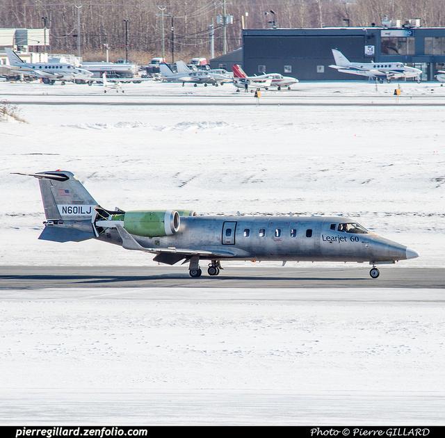 Pierre GILLARD: 2017-02-03 - Arrivée du LearJet 60 N601LJ à l'ÉNA &emdash; 2017-419662