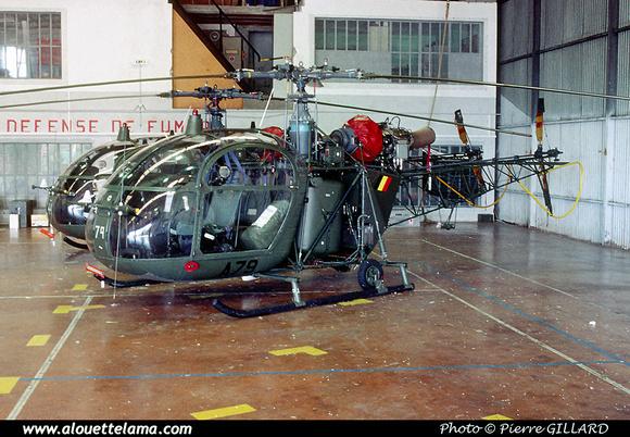 Pierre GILLARD: Aéronefs : Alouette II Astazou &emdash; A79-006597